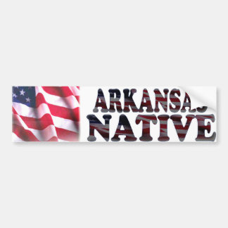Arkansas Native Car Bumper Sticker