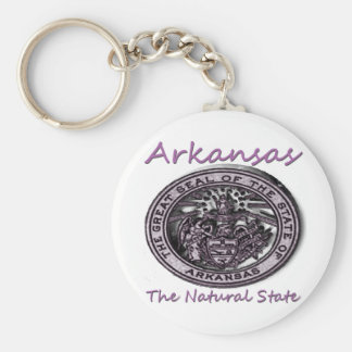 Arkansas Natural State Seal Keychain