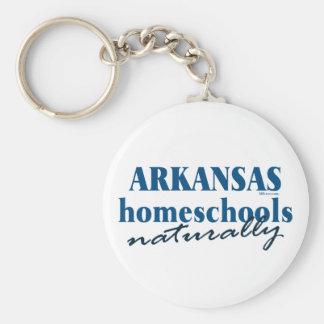 Arkansas naturalmente llavero redondo tipo pin