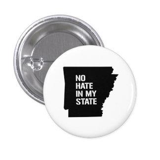 Arkansas: No Hate In My State 1 Inch Round Button