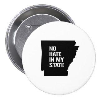 Arkansas: No Hate In My State 3 Inch Round Button