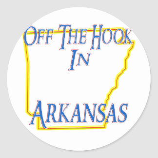 Arkansas - Off The Hook Classic Round Sticker