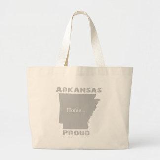Arkansas orgulloso bolsa tela grande