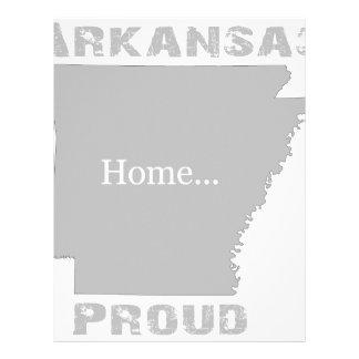 Arkansas orgulloso membrete a diseño