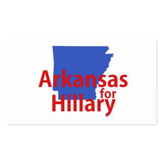 Arkansas para Hillary Tarjetas De Visita
