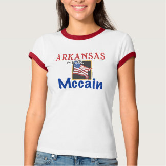 Arkansas para la camiseta de Mccain Playera