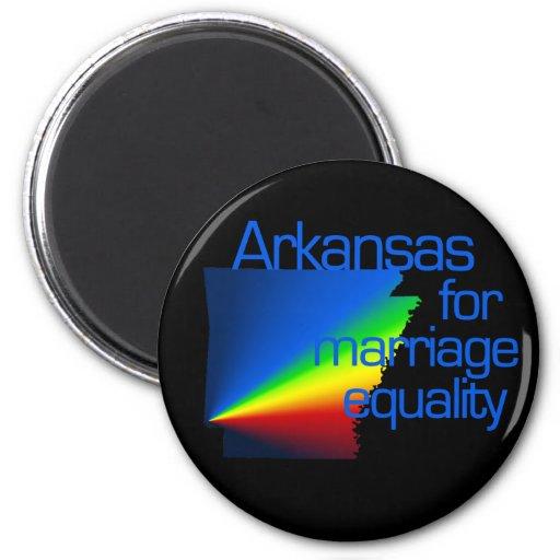 Arkansas para la igualdad de la boda imán para frigorifico