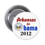 Arkansas para Obama 2012 Pins