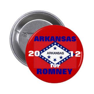 Arkansas para Romney 2012 Pin Redondo De 2 Pulgadas
