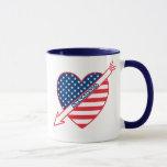 Arkansas Patriot Flag Heart Mug