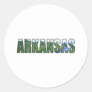 Arkansas Pegatina Redonda