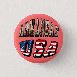 Arkansas Picture and USA Flag Text Button