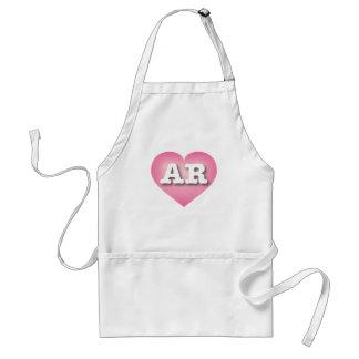 Arkansas pink fade heart - Big Love Adult Apron