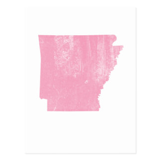 Arkansas Pink Vintage Grunge Postcard