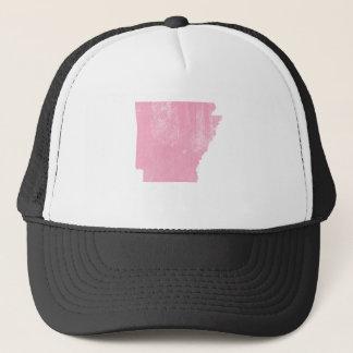 Arkansas Pink Vintage Grunge Trucker Hat