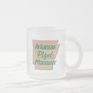 Arkansas Plant Manager Frosted Glass Coffee Mug