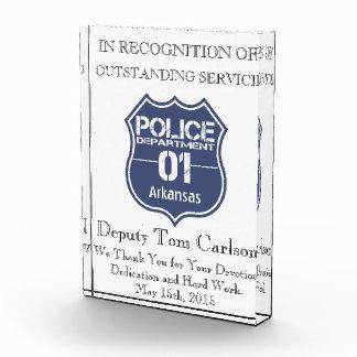 Arkansas Police Department Shield 01 Acrylic Award