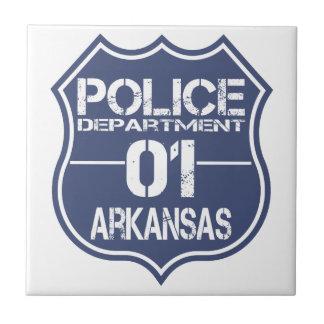Arkansas Police Department Shield 01 Ceramic Tile