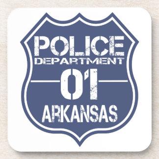 Arkansas Police Department Shield 01 Drink Coaster
