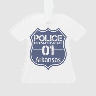 Arkansas Police Department Shield 01 Ornament