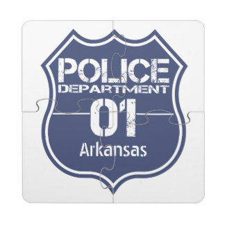Arkansas Police Department Shield 01 Puzzle Coaster