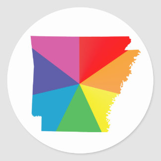 arkansas pride : angled : classic round sticker