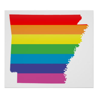 arkansas pride : striped : poster