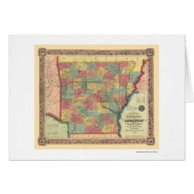map of arkansas towns. Arkansas Railroad Map 1854