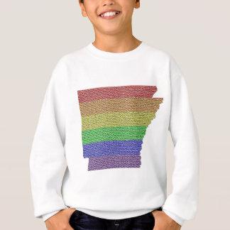 Arkansas Rainbow Pride Flag Mosaic Sweatshirt