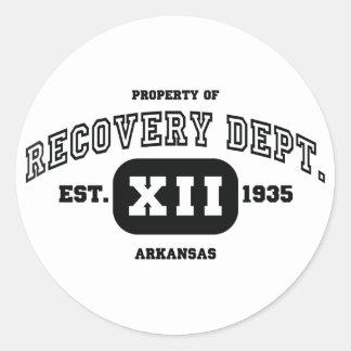 ARKANSAS Recovery Classic Round Sticker