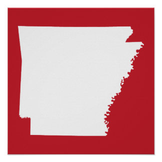 Arkansas Red and White Poster