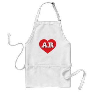 Arkansas red heart - Big Love Adult Apron