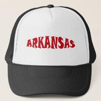 Arkansas Red Letter Trucker Hat