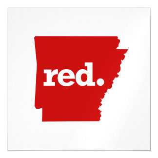 ARKANSAS RED STATE MAGNETIC CARD