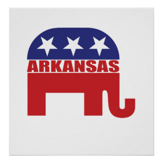 Arkansas Republican Elephant Poster