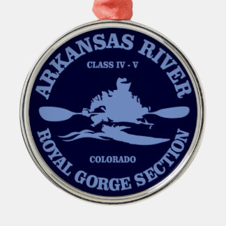 Arkansas River (rd) Metal Ornament