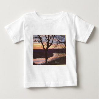 Arkansas River Sunset Painting Baby T-Shirt