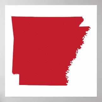 Arkansas rojo poster