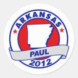 Arkansas Ron Paul Etiqueta Redonda