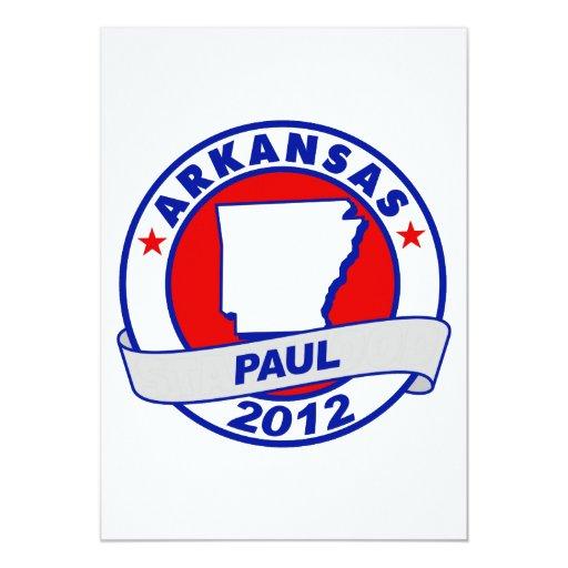 Arkansas Ron Paul Invitación 12,7 X 17,8 Cm