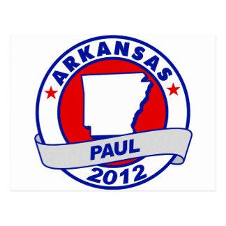 Arkansas Ron Paul Tarjeta Postal