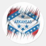 Arkansas Round Sticker