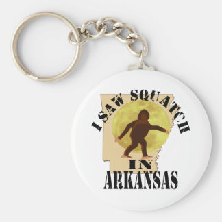 Arkansas Sasquatch Bigfoot Spotter - I Saw Him Keychains