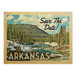 Arkansas Save The Date Mountains River Snow Postcard