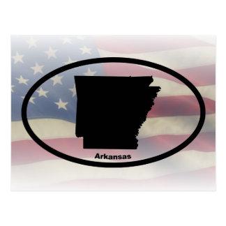 Arkansas Silhouette Oval Design Postcard