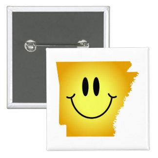 Arkansas Smiley Face Pinback Buttons