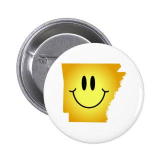 Arkansas Smiley Face Pinback Button