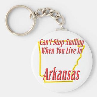 Arkansas - Smiling Basic Round Button Keychain