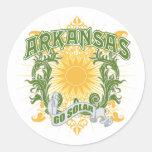 Arkansas solar pegatinas redondas