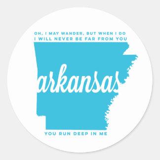 arkansas   song lyrics   sky blue classic round sticker